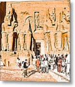 In The Presence Of Ramses II At Abu Simbel Metal Print by Mark E Tisdale