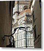 In The Shadow Of Il Duomo Metal Print