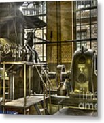 In The Ship-lift Engine Room Metal Print