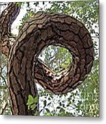 In The Spiral Of Life Always Reach For The Sky Metal Print