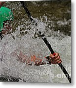 In The Spray Metal Print