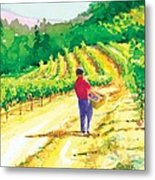 In The Vineyard Metal Print
