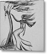 In The Wind She Dances Metal Print
