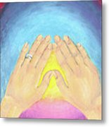 In This Moment The Answer Is Peace Metal Print