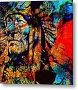 In Trance With Wolf Metal Print