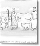 In What Appears To Be Biblical Times Metal Print