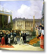 Inauguration Of A Monument In Memory Of Louis Xvi 1754-93 By Charles X 1757-1836 At The Place De La Metal Print
