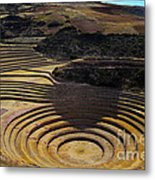 Inca Crop Circles At Moray Metal Print