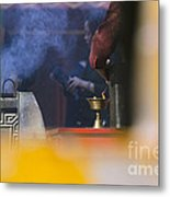 Incense Presentation At Yonghegong Temple 2 Of 5 Metal Print