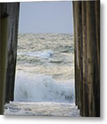 Incoming Tide At 32nd Street Pier Avalon New Jersey Metal Print