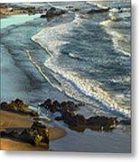 Incoming Waves At Bandon Beach Oregon Metal Print