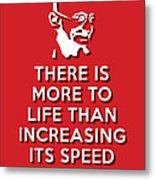 Increasing Speed Red Metal Print