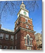 Independence Hall Bell Tower Metal Print by Olivier Le Queinec
