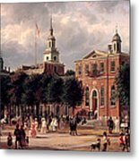 Independence Hall In Philadelphia Metal Print