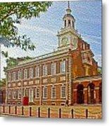 Independence Hall Philadelphia  Metal Print by Tom Gari Gallery-Three-Photography
