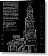 Independence Hall Transverse Section - Philadelphia Metal Print