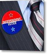 Independent Voter Pin Metal Print