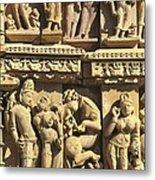 India. Khajraho. Jain Temple Metal Print