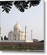 India, Temple Burial Site Seen Metal Print by Bill Bachmann