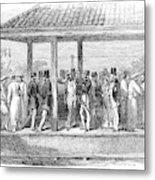 India Train Station, 1854 Metal Print