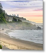 Indian Beach One Foggy Morning Metal Print