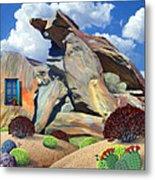 Indian Canyon Rocks Metal Print