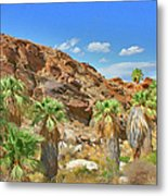 Indian Canyons View In Palm Springs Metal Print