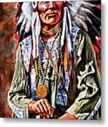 Indian Chief Metal Print