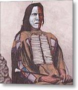 Indian Chief Red Cloud Metal Print by Billie Bowles