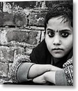 Indian Child Metal Print by Vicasso Destiny