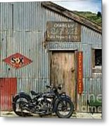 Indian Chout At The Old Okains Bay Garage 1 Metal Print