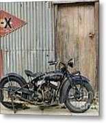Indian Chout At The Old Okains Bay Garage 2 Metal Print