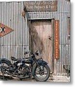 Indian Chout At The Old Okains Bay Garage 3 Metal Print