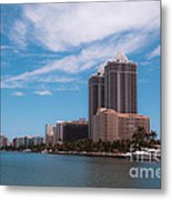 Indian Creek And Blue Tower Condos Metal Print