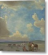 Indian Encampment Metal Print
