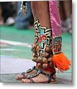 Indian Feet Metal Print