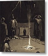 Indian Fire God. The Going Of The Medicine-horse Metal Print