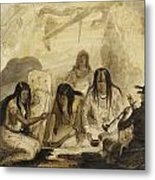 Indian Hospitality - Conversing With Signs Metal Print