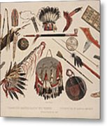 Indian Implements And Arms Metal Print
