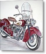 Indian Motorcycle Metal Print