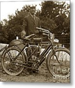 Indian Camelback Motorcycle Circa 1908 Metal Print