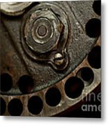 Indian Racer Crankshaft Fly Wheel Metal Print