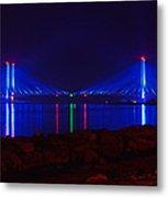 Indian River Inlet Bridge After Dark Metal Print