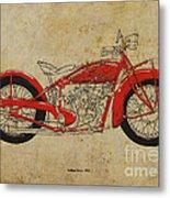 Indian Scout 1928 Metal Print by Pablo Franchi