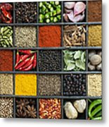 Indian Spice Grid Metal Print by Tim Gainey
