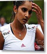 Indian Tennis Player Sania Mirza Metal Print by Nishanth Gopinathan