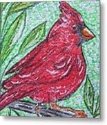 Indiana Cardinal Redbird Metal Print