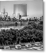 Indiana - Downtown From Across White River Panoramic Metal Print