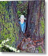 Indiana Jones In Armstrong Redwoods State Preserve Near Guerneville-ca Metal Print
