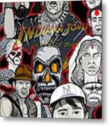 Indiana Jones Temple Of Doom Metal Print by Gary Niles